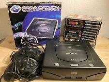 Sega Saturn Sammlung Konsole in OVP und 10 Spiele