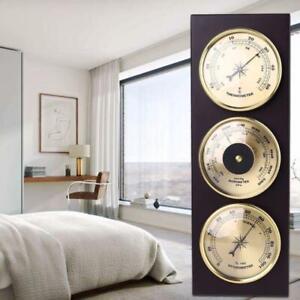 3Pcs/Set Barometer Thermometer Hygrometer with Wooden Frame Base Weather Station