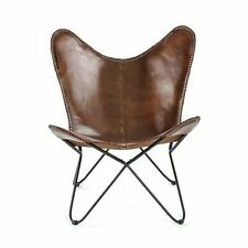 Leather Living Room Chairs Cover-Butterfly Chair Replacement Brown Leather