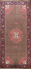 Excellent Vintage Geometric Koliaei Area Rug Handmade Wool Oriental Carpet 5x10