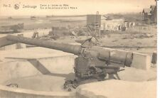 carte postale - Zeebrugge - CPA - Canon de l'entrée du Môle