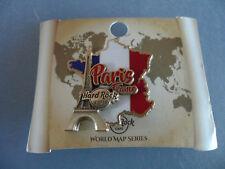 Hard Rock Cafe Paris France - World Map - Eiffeltower / Country Shape Flag Pin