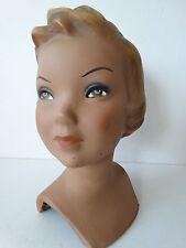 Gipskopf gipsmodel mannequin schaufensterdeko Frauenkopf fille art deco 30er