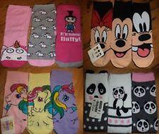 Cotton Blend Novelty, Cartoon Socks for Women