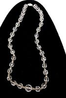 Art Deco Crystal glass faceted beads necklace.