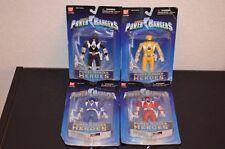 4 Mighty Morphin Power Rangers Heroes Series 2 figures NIP Red Blue Black Yellow