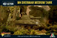 WARLORD GAMES 28MM BOLT ACTION: WWII M4 SHERMAN US MEDIUM TANK (PLASTIC) 13006