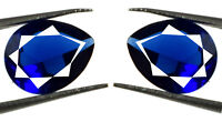 4 Ct Blue Sapphire Loose Gemstone Pair Natural Pear Holiday Sale AGSL Certified