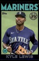2021 Series 1 1986 Topps Baseball Blue #86B-86 Kyle Lewis - Seattle Mariners