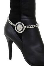 Sexy Women Western Boot Bracelet Silver Metal Chain Anklet Shoe Lion Bling Charm