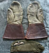 More details for royal flying corp, side cap with rfc cloth badge and a pair of gloves