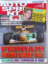 AUTOSPRINT n°36 1992 Gerhard Berger - 1000 Laghi Lancia Campione del Mondo [P74]