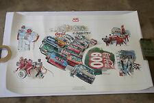 1990 FULL COLOR NASCAR POSTER COCA COLA CHARLOTTE WORLD 600 22 X 28