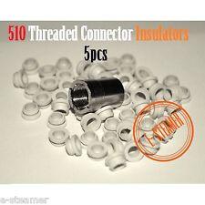5pcs X 510 Threaded Connector Rubber Insulators atmomizer / mοd DIY insulator