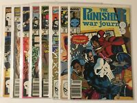 Punisher War Journal 14-18,30,32,42 FN-VF Marvel (1988) -8 Comic Lot