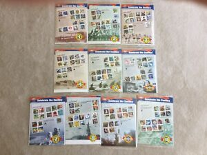 Celebrate The Century Complete Set of 10 USPS Sealed Sheets, 1900s-1990s Stamps