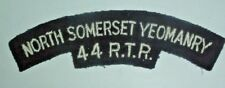 SHOULDER TITLES-POST WW2 EMBROIDERED/WOVEN CLOTH NORTH SOMERSET YEOMANRY 44 RTR