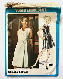 Vintage 1970s DONALD BROOKS Vogue Americana Sewing Pattern 2449 + LABEL size 14