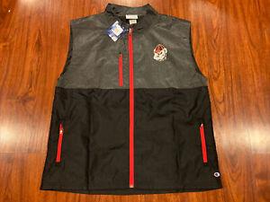 Champion Men's Georgia Bulldogs Football Sleeveless Jacket Vest Jersey XL UGA