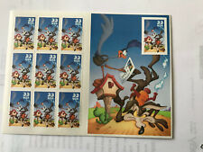 Scott 3392 33c Road Runner, Wile Coyote 10th Imperforated MNH Pane of 10