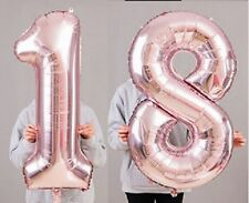 "18th Birthday Party 40"" Foil Balloon HeliumAir Decoration Age 18 Rose Gold lite"