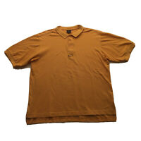 VTG 90s Nike T-Shirt Mens Large Center Swoosh Polo Yellow Hip Hop Streetwear OG