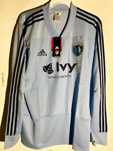 Adidas Long Sleeve MLS Jersey KANSAS CITY SPORTING TEAM GRAY sz M