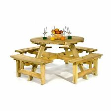 Tremendous Wooden Up To 8 Seats Garden Patio Tables For Sale Ebay Home Interior And Landscaping Ponolsignezvosmurscom