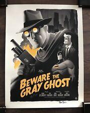 SIGNED X2 Beware The Gray Ghost Batman BTAS Print Mondo Phantom City Bruce Timm