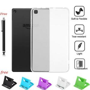 Shockproof Clear Hard Bumper TPU Case Cover For Amazon Kindle fire 7/HD 8/ HD 10