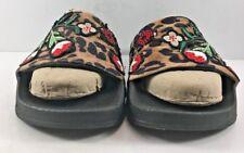 Steve Madden Leopard & FLoral Print Patches Flip Flops Womens Size US 7M