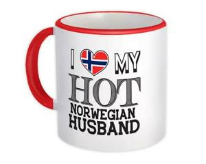 Gift Mug : I Love My Hot Norwegian Husband Norway Flag Country Valentines Day
