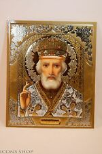 St Nicholas  Николай Russian Orthodox Church Icon 10X12 cm