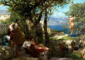 Rope Dancer (1897) Henryk Siemiradzki Ancient Rome wall art poster print
