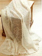 Cobweb Lace Baby Christerning Shawl 1 ply  Knitting Pattern