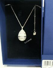 Swarovski Rotonde Large White Pendant Egg Shaped Crystal MIB - 1126793