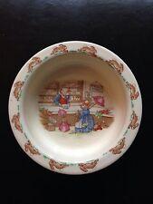 Antique 1936 Royal Doulton Fine Bone China Childs Bowl BUNNYKINS ENGLAND