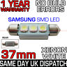 37mm 3 SAMSUNG SMD LED 239 272 C5W CANBUS NO ERROR WHITE NUMBER PLATE LIGHT BULB