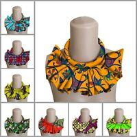 Women Chokers Necklace African Tribal Detachable Collars Fabric Handmade Jewelry