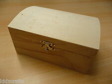 Wooden Chest Pirate Treasure Box Jewellery Storage Ready To Paint 17x8x11cm