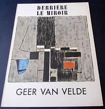Derriere le Miroir 1952 No. 51 Artist GEER VAN VELDE Maeght Editeur Lithographs