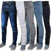 New G72 Mens Flex Skinny Jeans Stretch Slim Fit Denim Pants All Waist & Length