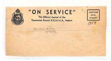 Ah125 1954 Australia Hobart Tasmania On Service Cover Latrobe Pts