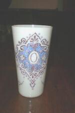 "Persian JEWELED OPALINE GLASS ALE TUMBLER Design 6.5"" Tall, circa 1800"