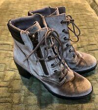veera velvet combat boot