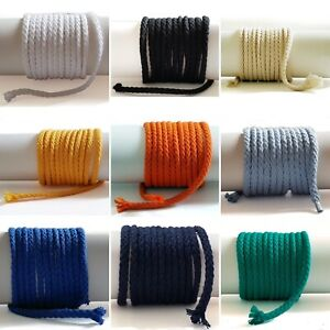 5mm Cotton Rounded Cord, Perfect For Drawstrings Hoodies ETC. 22 COLOUR OPTIONS!