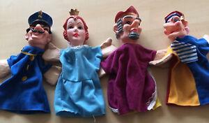 4 Kasperle-Puppen, Kasper-Theater, Handpuppen