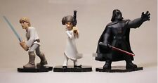 "Star Wars (3 pc Set) Cake Toppers Action Figures PVC Collection 4"" Tall"