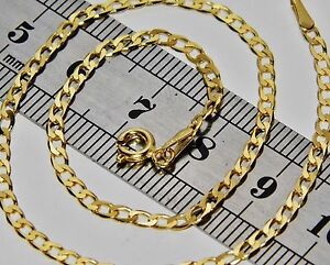 9CT YELLOW GOLD 10 inch SOLID CURB ANKLET / ANKLE BRACELET - UK HALLMARKED