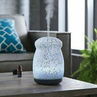 Better Homes Gardens 250 mL Ultrasonic Aroma Diffuser LED Colors Crackled Mosaic
